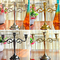 "White Metal Candle Holders 50cm/20"" Stand Flowers Vase Candlestick As Road Lead Candelabra Centre Pieces Wedding Decoration 03"