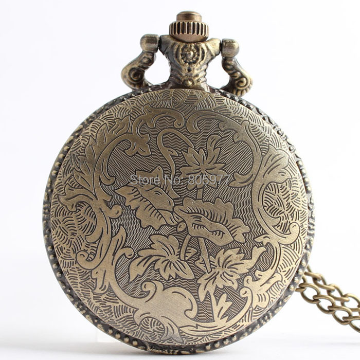 Wholesale high quality Movie Jewelry the hunger game Retro Necklace Pocket watch bronze vintage bird pocket