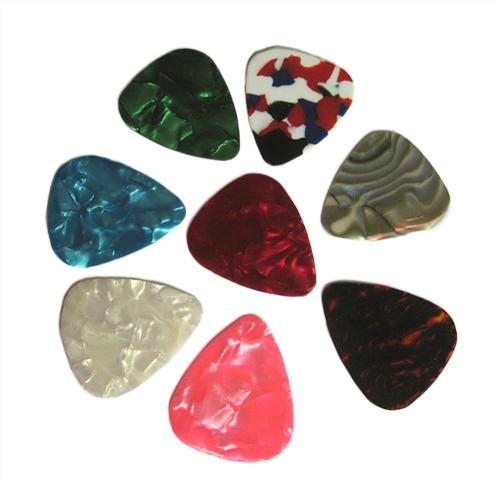 30pcs/lot Celluloid Guitar Picks Plectrums Standard/Triangle Free Shipping(China (Mainland))