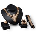 Fashion Trendy nigerian wedding african beads jewelry set Crystal Earrings for Women Party dubai jewelry set
