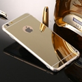 Luxury Gold Plating Bling Mirror Case for iPhone 7 7 Plus 4 7 5 5 Back