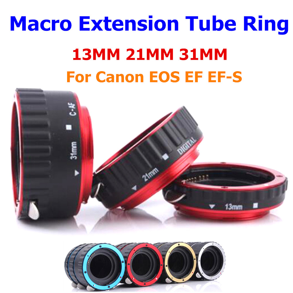 For Canon Metal Auto Focus AC-MC Macro Extension Tube Ring Set 13MM 21MM 31MM Suit For Canon EOS EF EF-S 70D 60D 7D 6D 5D II III<br><br>Aliexpress