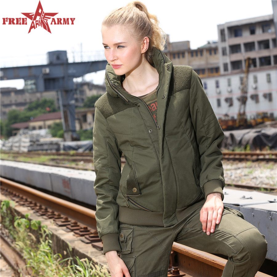 Tactical army green Military Jacket Winter Women Jackets Coats Army Green Outwear Warm winter women jacket GS-891 Z10(China (Mainland))