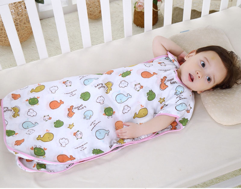 100% Cotton Baby Thin Sleeping Bag For Summer Infant ...