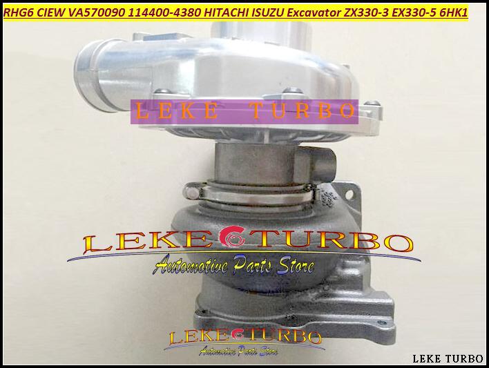 TURBO RHG6 CIEW VA570090 1144004380 14400-4380 Turbocharger For HITACHI For ISUZU Excavator Earth moving ZX330-3 EX330-5 6HK1 (3)