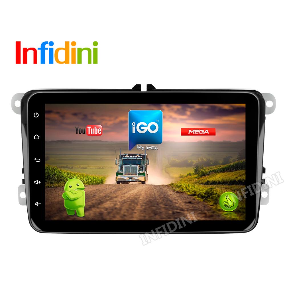 android 6.0 car dvd player 1024*600 for VW POLO GOLF PASSAT CC JETTA TIGUAN TOURAN Bora Caddy transporter multivan EOS gps radio(China (Mainland))