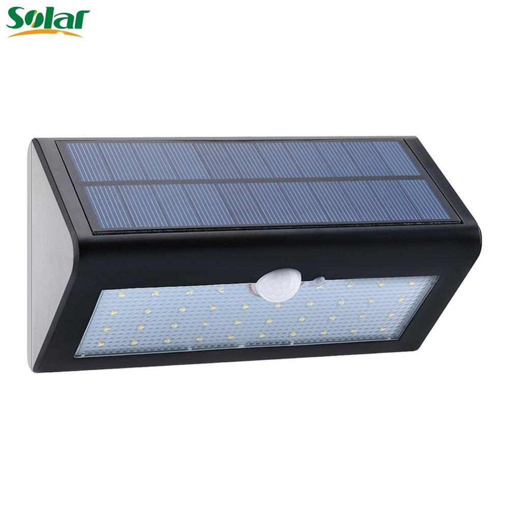 PIR Solar Powered Outdoor Motion Sensor Security 38LED Light Ip65 Waterproof & Heatproof Garden Wall Lighting Lamp (Black)(China (Mainland))