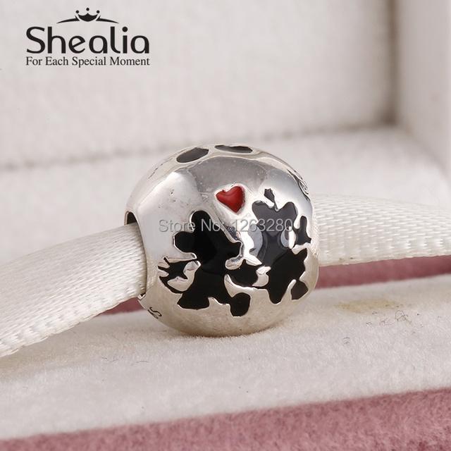 Весна 2015 смешанная эмаль мультфильм мышь подвески темы серебро 925 изящные украшения для женщин известный браслеты diy SH0636