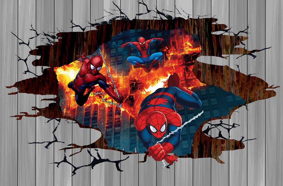Popular spiderman wallpaper buy cheap spiderman wallpaper - Poster mural spiderman ...