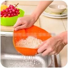 Multifonction Silicone cuisine vidange panier, Le riz à laver les légumes et fruits paniers plat allant au micro couverture Promotion(China (Mainland))