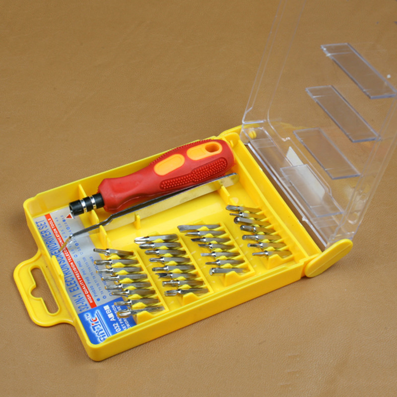 32 In 1 Screwdriver Set Magnetic Screwdriver Set With Hex Bits For Cell Phone Repair Micro Pocket Precision Screwdriver Kit(China (Mainland))