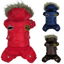 Hot New Arrival Hot Winter Warm Small Dog Pet Clothes Padded Hoodie Jumpsuit Pants Apparel 1 Pieces DY164(China (Mainland))
