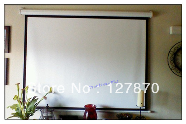 High quality 100 inch 4 3 motorized screen electric for 100 inch motorized projector screen