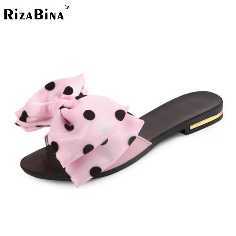 Women's Flat Sandals Bowtie Slipper Flats Sandal Open Toe Summer Shoe Women Sexy Party Beach Vacation Female Footwear Size 35-39