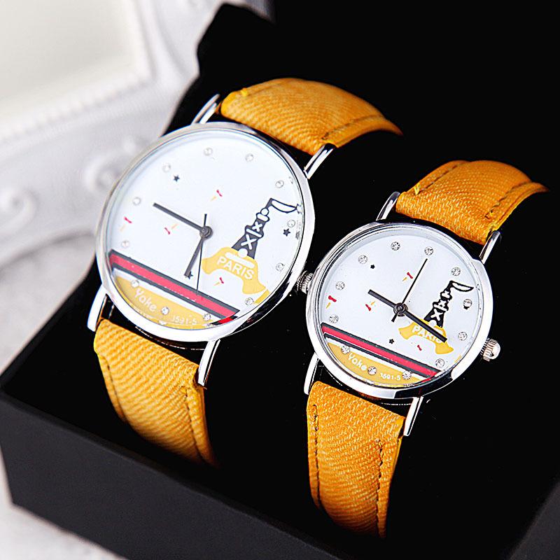 Hot!! Fashion Quartz Watch Women Simple Style Tower Fabric Clocks Children Relogio Feminino Couple Wristwatch Men Casual Watches<br><br>Aliexpress