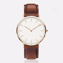 2015 Popular Brand DW Casual Watch Men Leather Strap Military Quartz Wristwatch Relogio Masculino Clock hombre 40mm