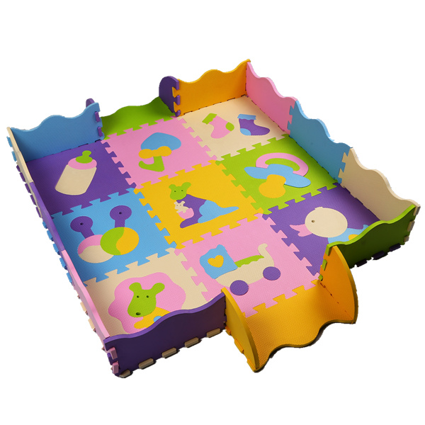 Baby Crawling Play Mat 30*30CM Climb Pad puzzle mats Fruit Letters And Happy Farm Baby Toys Playmat Kids Carpet Baby Game(China (Mainland))