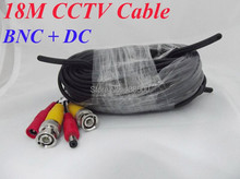 Wholesale Free Shipping security system accessory CCTV monitoring bnc video cable 18M 60feet(China (Mainland))