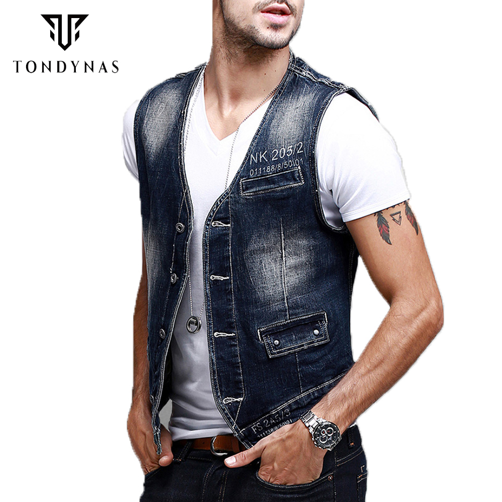 how to wear a denim vest male
