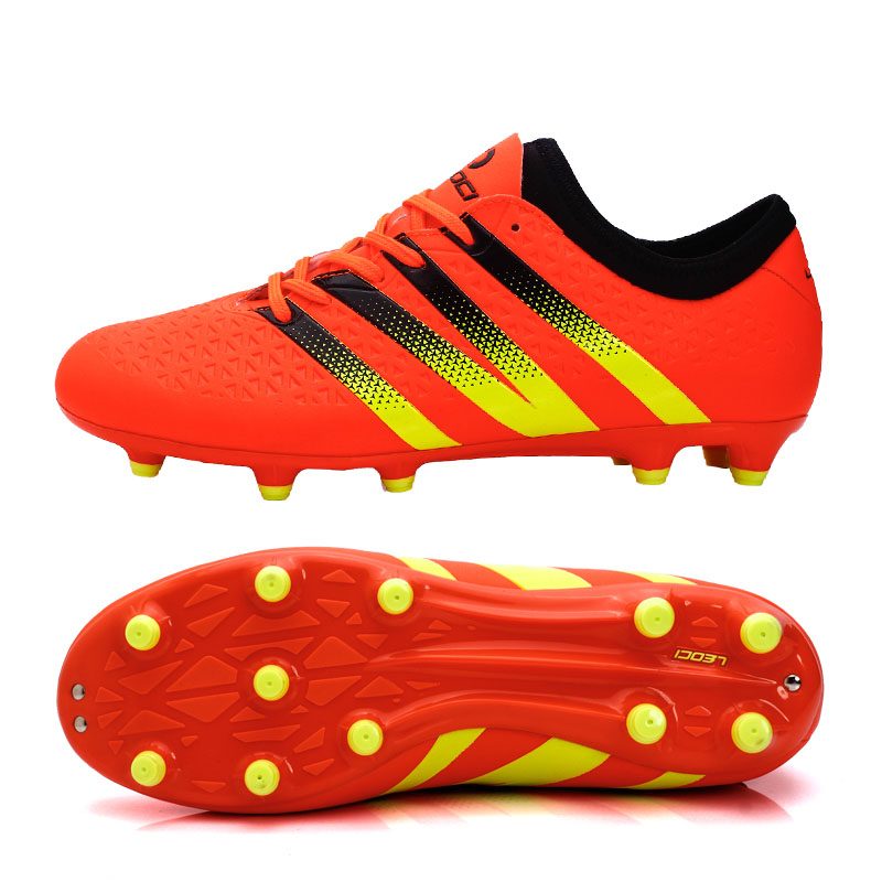 High Quality Men's Soccer Cleats Boots Botas de Futbol Men Turf Athletic Sneakers Football Soccer Shoes Zapatillas Cleats Boots(China (Mainland))