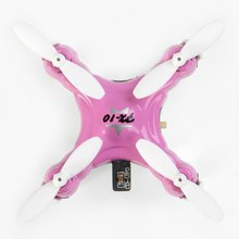 Smallest Hand Throw Floureon FX-10 Mini Drone 2.4GHz 4 Channel 6 Axis Gyro RC Quadcopter with Colorful LED / 3D Rollover