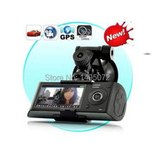 Free shipping Cheap NEW Arrival!X3000 R300 HD 720P GPS Cam Video Camcorder Car Camera Recorder DVR LCD G sensor(China (Mainland))