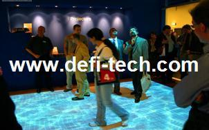 DEFI interactive floor/wall system with $200, Professional Interactive floor projection system for Advertising