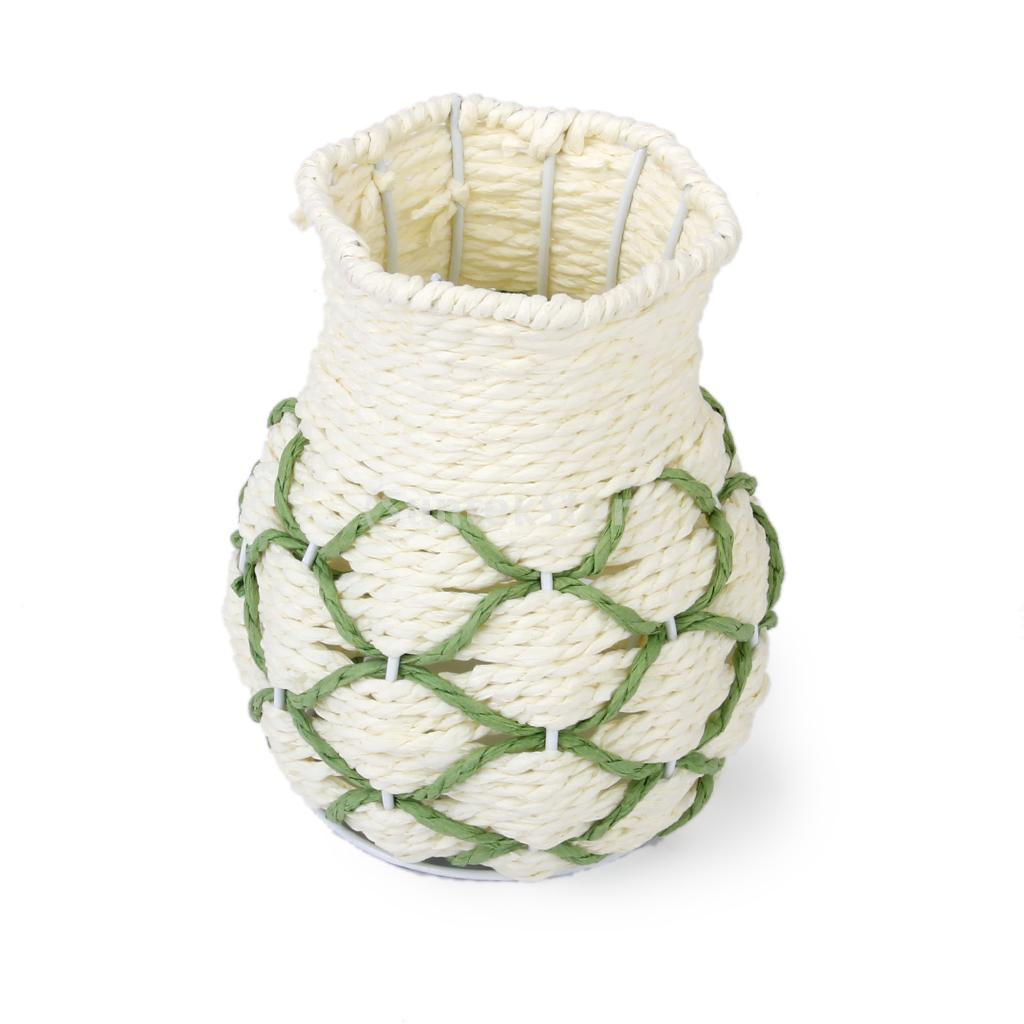 New Arrivals 2015 Vintage Flower Plant Rattan Vase Storage Basket for Wedding Party Home Decor Free Shipping(China (Mainland))