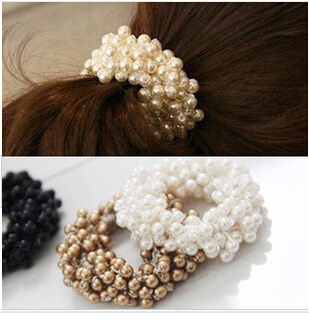 Craft woven beads elastic hair ring Headband Hair rubber for Women hair Accessories Hair Ornaments Free Shipping FD191