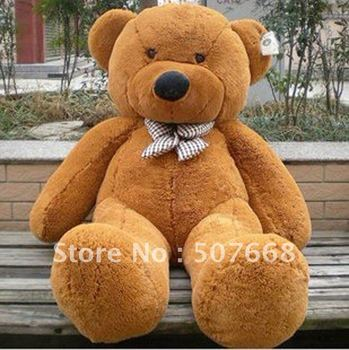 "Teddy Bear Stuffed Plush Soft Bear Plush Toys Soft Toys 160CM White & Brown Huge 63"" Fre Shipping"