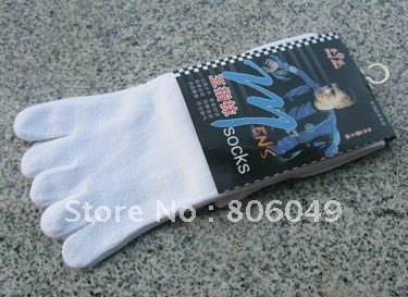 Christmas sale! Free shipping 4 Pairs black Men's Five-Toe Flip Flop Geta Tabi Socks