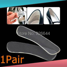 Hot sales 1 Pair Self-adhesive Silicone Gel Heel Cushion Foot Care Shoe Pads Shoe Insoles free shipping(China (Mainland))