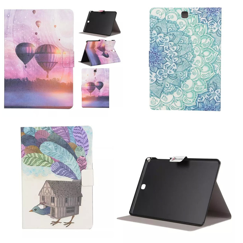 XX For Samsung Galaxy Tab A 8.0 T350 T351 SM-T355 Painting PU Leather Cute Cartoon Stand Case Cover Tablet PC Protective Cases(China (Mainland))