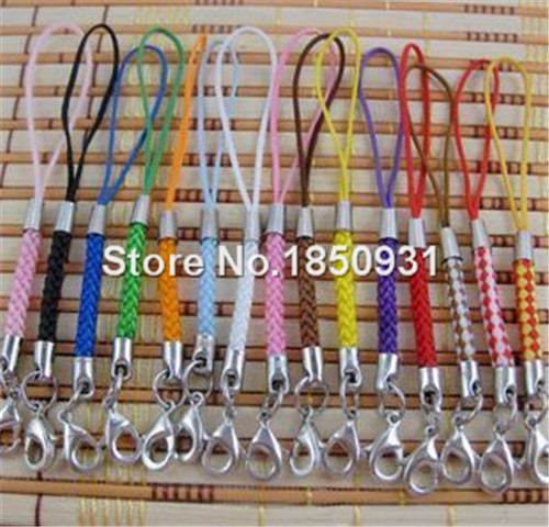 100 PCS Direct Manufacturer Wholesale 14 Colors Mobile Phone Alloy Straps Cellphone Chain for DIY All Phones Pendants Ornaments(China (Mainland))