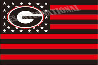 University of Georgia Bulldogs Flag USA With Stars and Stripes NCAA Flag 3x5 ft custom Banner 90x150cm Sport flag ES729(China (Mainland))