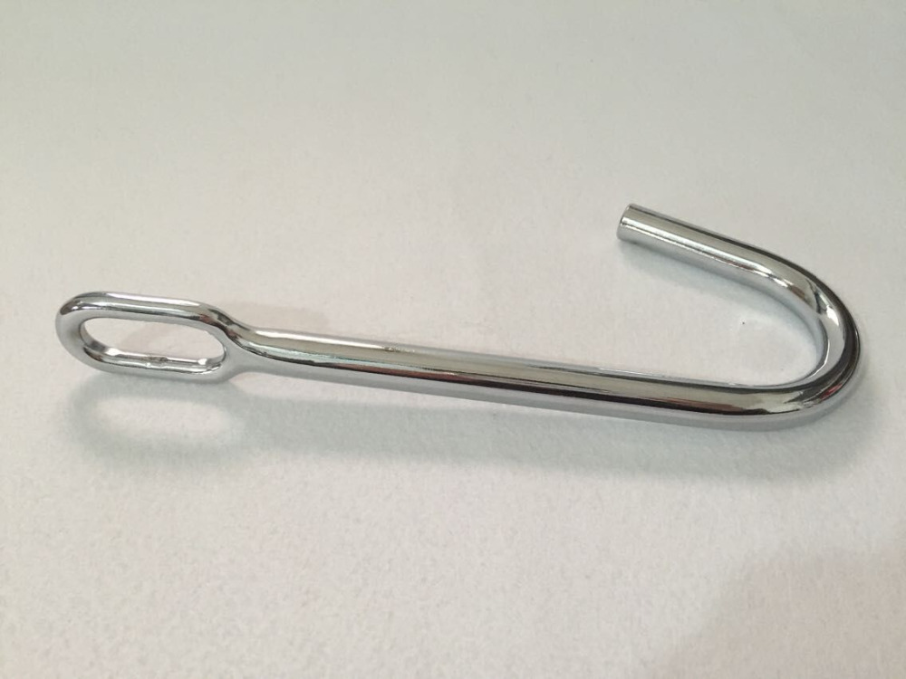 Straight anal hook all stainless steel straight head of the erotic toys manufacturers of alternative toys,anal plug,butt plug(China (Mainland))