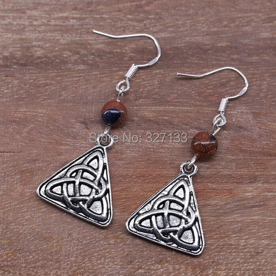 Vintage 20 Pair for Women Tibetan Silver Triangle Bamboo leaves Dangle Earrings Jewelry 925 Sterling Silver Ear Hook S5963<br><br>Aliexpress