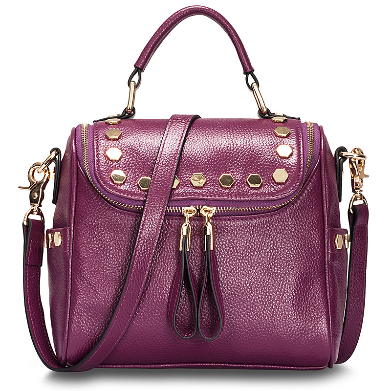 New luxury cow handbag designer women's genuine leather messenger bag ladies pillow shoulder bags handbags women famous brands(China (Mainland))