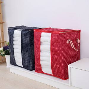 New brand High quality foldable clothes oxford cloth large high storage bag quilt organizer dot cherry printed storage bags box(China (Mainland))