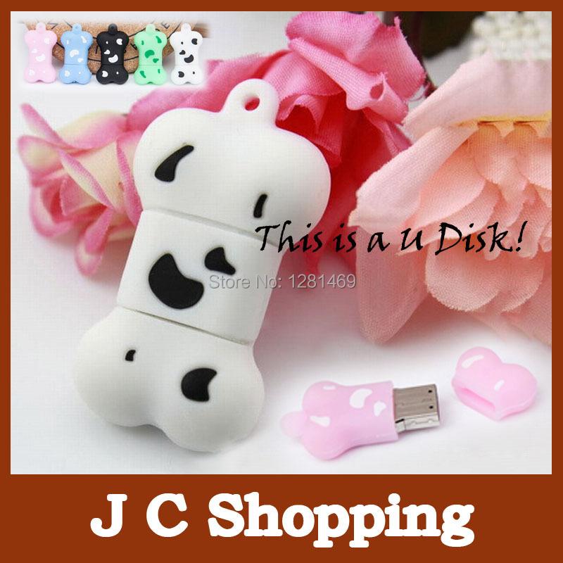 cartoon dog bone usb flash drive u disk 2G 4G 8G 16G 32G 64G usb Memory stick Real 16G pendrive pen drive free shipping(China (Mainland))