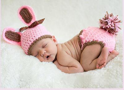 Бесплатная доставка, Новый ребенок InfantRabbit пасхальный заяц детские Hat и пеленки ...