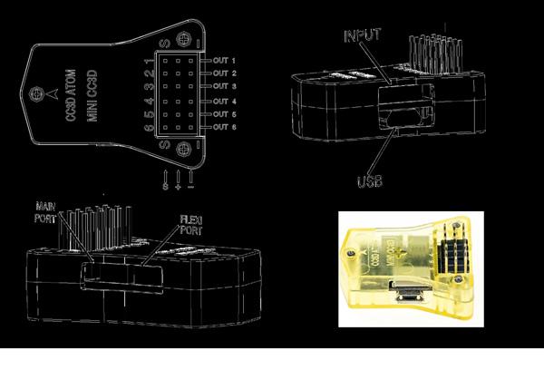 Openpilot Flight Controller Mini Cc3d Atom 12a Esc  Mt2204
