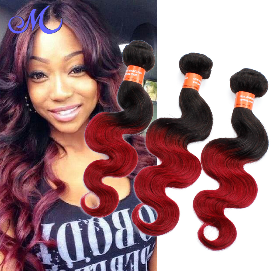 Mocha Hair Brazilian Body Wave Ombre Burgundy Brazilian Hair Weave Bundles Brazilian Human Hair Extensions UK No Tangle No Shed<br><br>Aliexpress