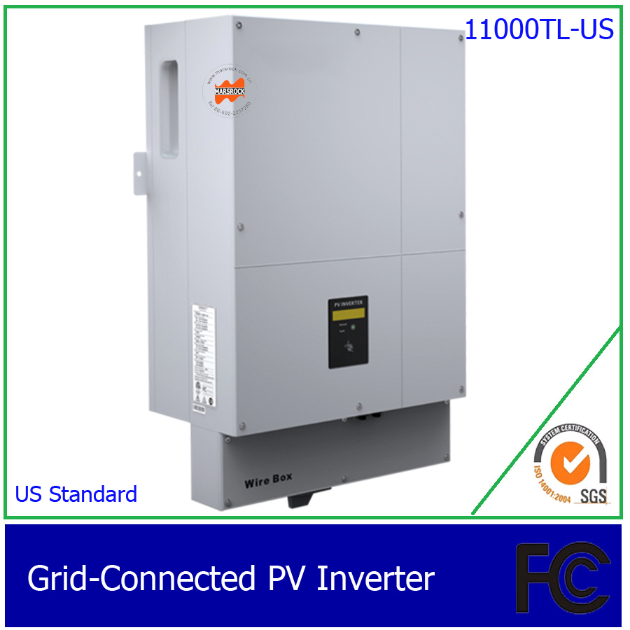 11KW High efficiency DC AC two Phase grid tie solar inverter transformerless, with 1 MPPT, 60HZ American Standard(China (Mainland))