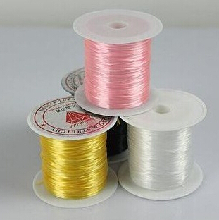 23 ft Stretchy Clear Bead String Elastic Jewelry Socks Knit Wire High Quality Fashion Jewelry Bead(China (Mainland))