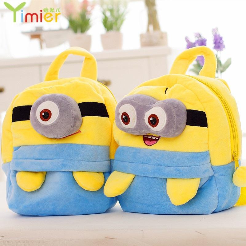 Newly Minion backpack Bag Children Mochila Infantil Kid school Bag size 25cm MYF189(China (Mainland))