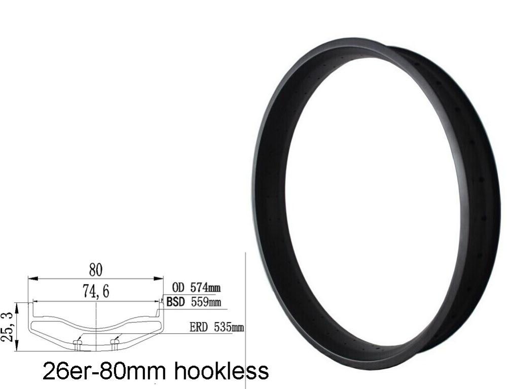 26er fat snow rim hookless full carbon fiber light weight 80mm width clincher 32,36,64 holes Toray T700 carbon fat bicycle rim<br><br>Aliexpress