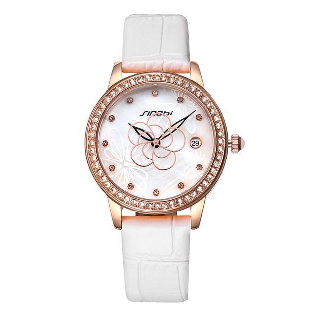 Zegarek damski w stylu retro kwiat na tarczy różne kolory