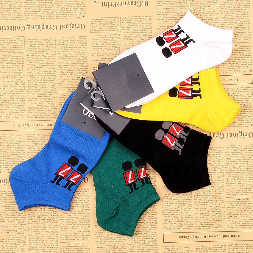 New 2015 Boat Socks Men Fashion Hosiery 5 pairs/lot Men Socks Athletic Socks SKM013(China (Mainland))