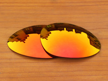 Fire Red Mirror Polarized Replacement Lenses For C Wire 1.0 Sunglasses Frame 100% UVA & UVB Protection